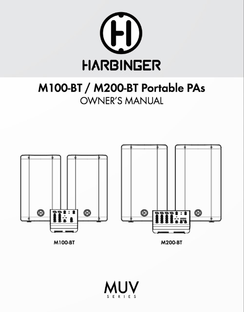 Harbinger M100BT M200BT Owner Manual