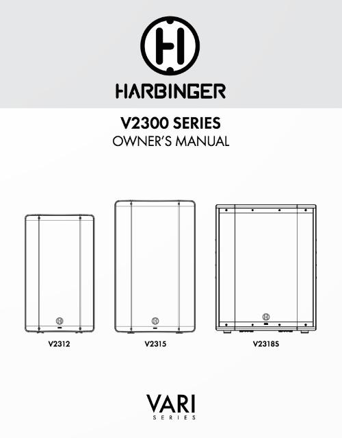 Harbinger V2300 Series Owner Manual