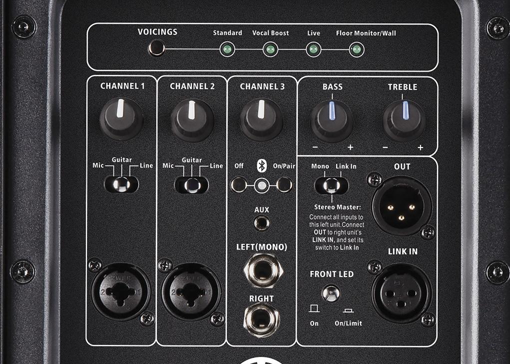Harbinger V4112 Back Controls