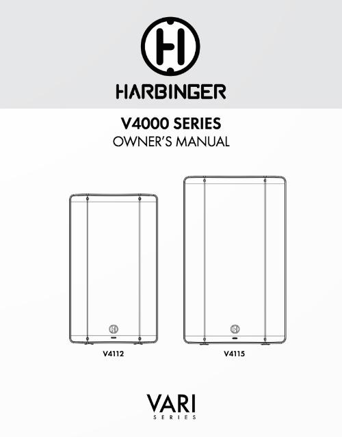 Harbinger V4000 Series Owner Manual