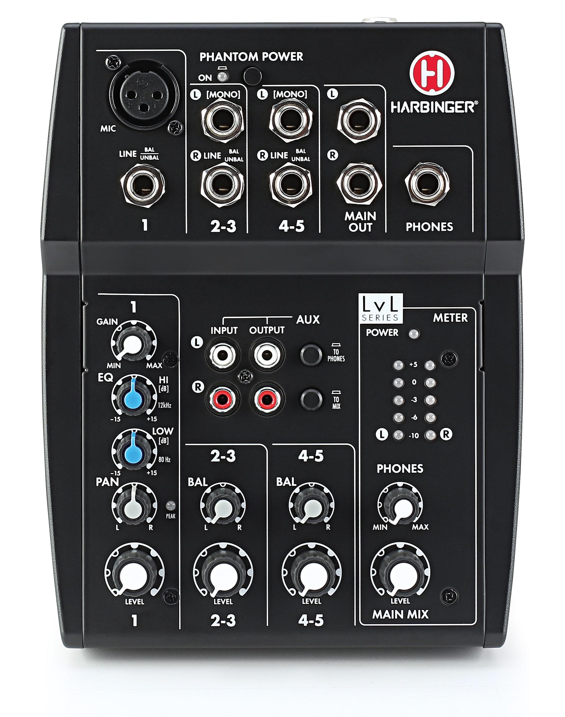 Harbinger L502 5-Channel Compact Mixer