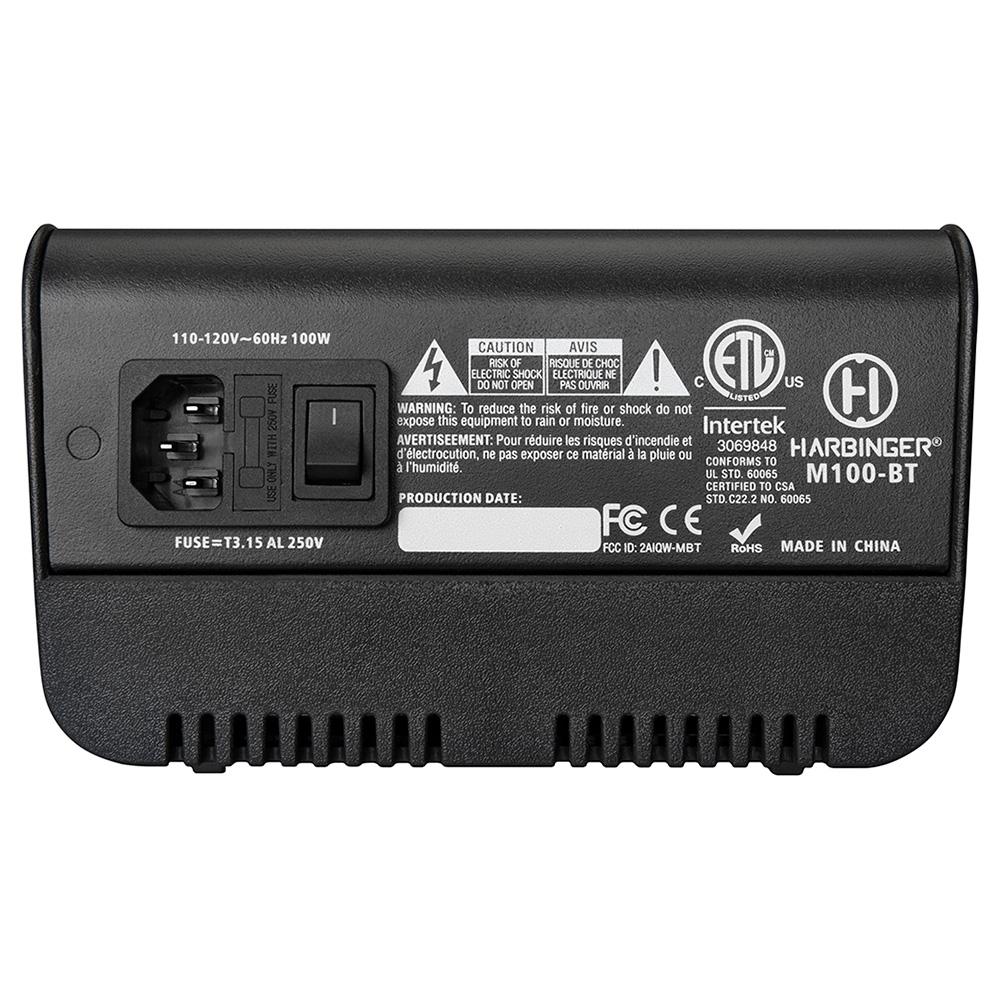 Harbinger M100-BT Portable PA System Mixer Back