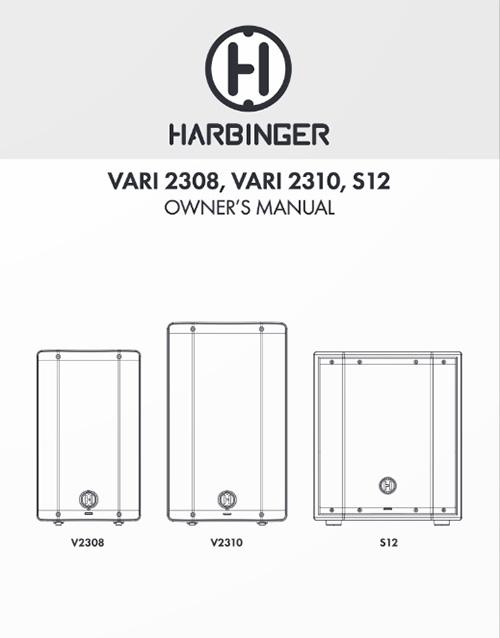 Harbinger V2308 V2310 S12 Owner Manual